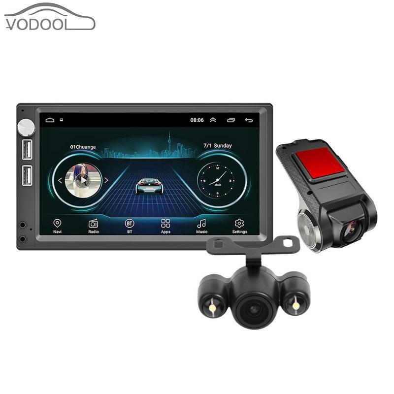 A5 7 pouces Android 8.1 DVR enregistreur de conduite Dash Cam voiture stéréo lecteur MP5 + caméra de vue arrière de voiture + DVR de voiture