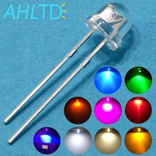 1000X F5 5mm Straw Hat Water Clear Emitting diodes Ultra Bright White Blue Green Yellow Red Wide Angle bulb