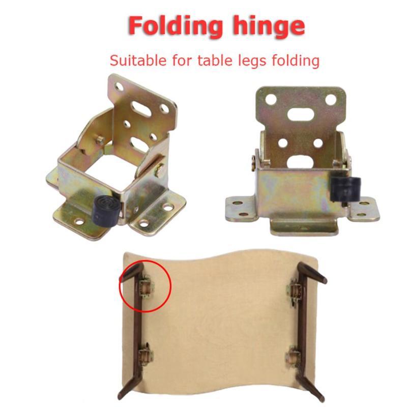 Furniture Hinge Iron Folding Table Leg Brackets Desk Chair Feet Extension Self Locking Furniture Hinges For Folding Chairs