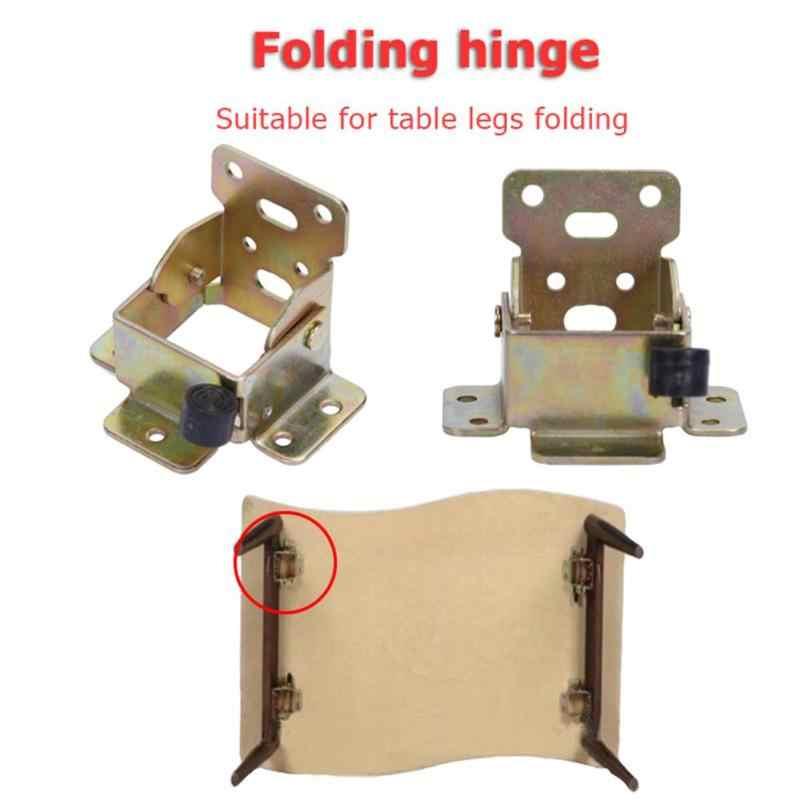 90 Degrees Folding invisible Hinge Table Bracket Chair Feet Bracket Self Locking
