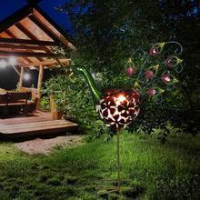 Солнечный СВЕТОДИОДНЫЙ светильник на солнечной батарее, теплый белый наружный светильник для газона, ландшафтный светильник, новинка, садовый светильник, садовый декоративный светильник s
