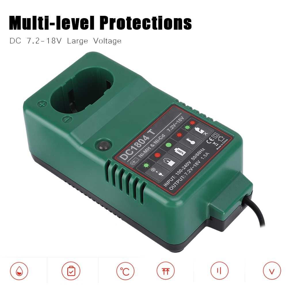 متعددة مستوى الحماية متولى حسن شاحن بطارية DC 7.2 V-18.0 V ماكس 1.5A متولى حسن شاحن ل ماكيتا الأخضر عالية جودة