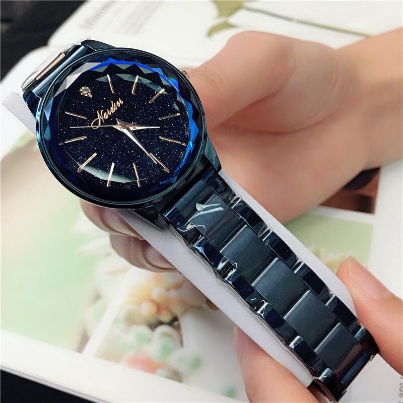 Bracelet Watch Water-Diamond Clock Gift Dail Crystal Luxury Polygon Sky Star Steel-Belt
