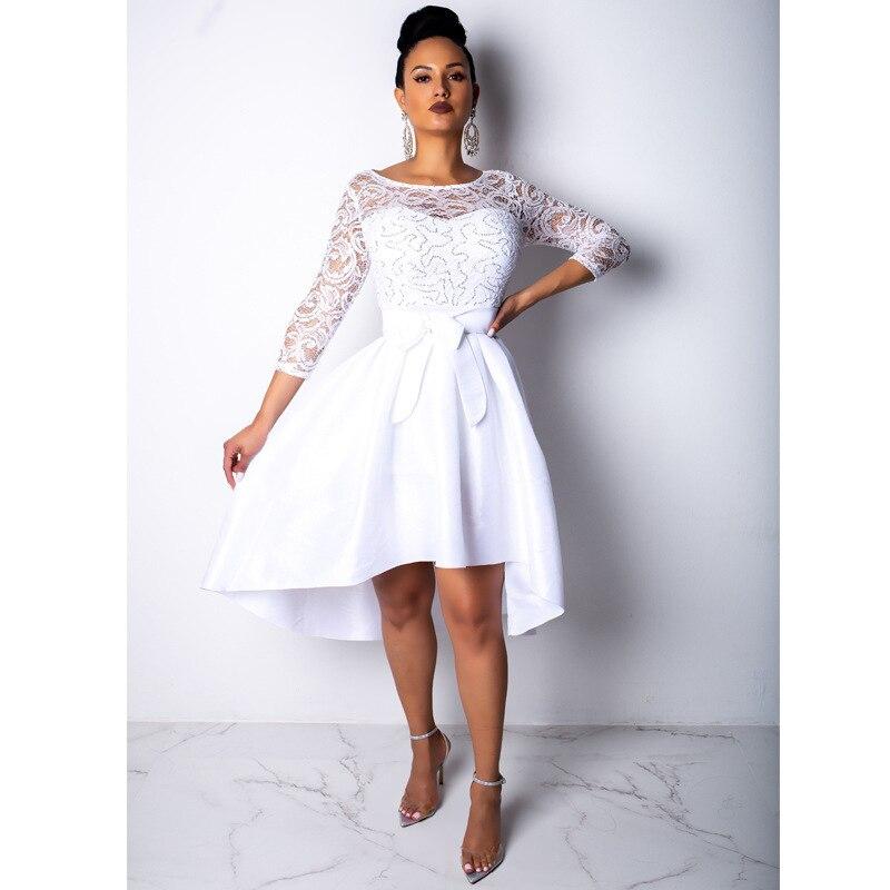 Muxu модное белое кружевное платье в стиле пэчворк женская одежда