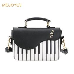 Piano Pattern Women Leather Handbag Fashion Female Flap Crossbody Messenger Bag Girls Casual Zipper Shoulder Bag Bolsa Feminina