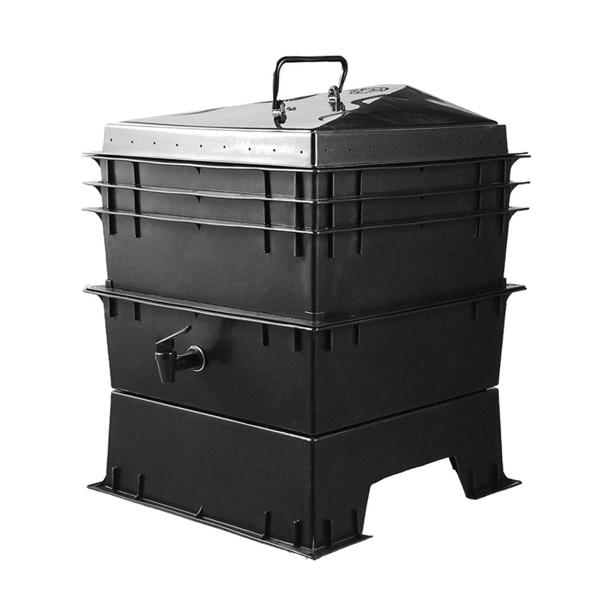 80L PP cuisine déchets terre ver Compost boîte bricolage composteur usine de vers de terre composteur maison ver de terre fumier et seaux de sol