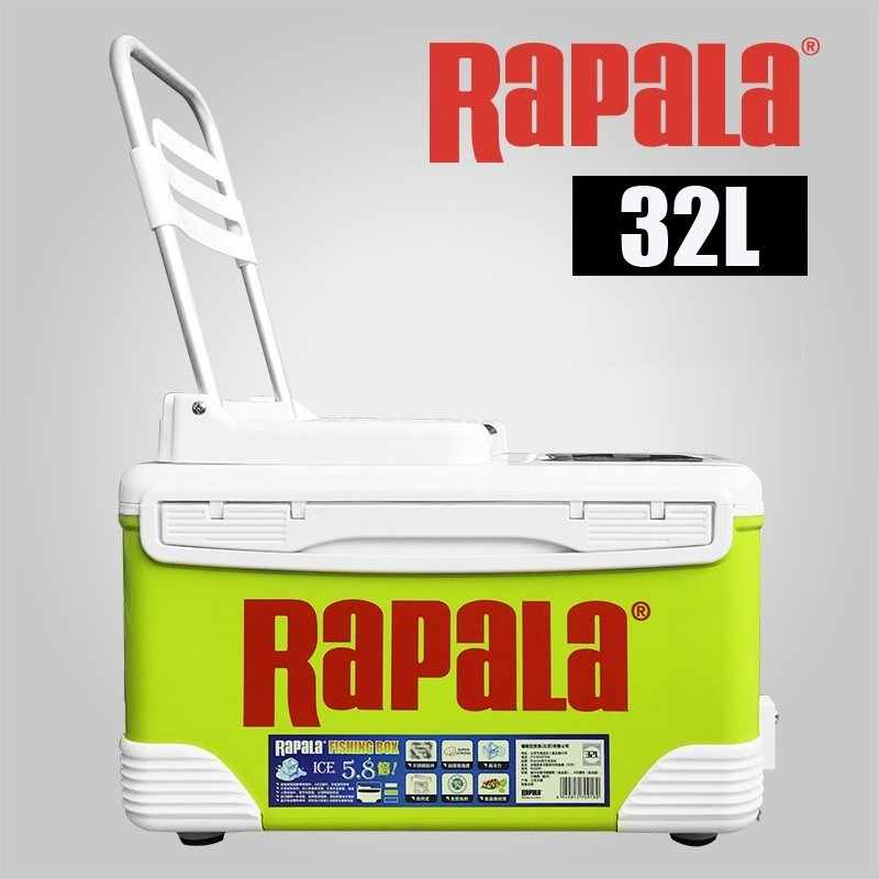 RAPALA 32L Multi-function Portable fishing box insulated cooler with handle four-foot fold chair Fishing tool