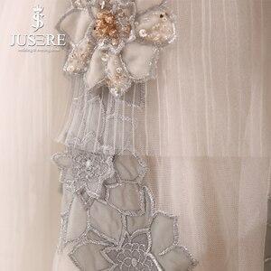Image 5 - Jusere vestido de noche largo hasta el suelo con cuentas, ilusión barata, plisado, sin hombros, corte en A, para fiesta de graduación, 2018 Stock