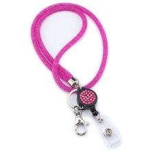 Ожерелье-шнурок с кулоном на ремешке, офисный держатель, мобильный брелок для телефона, Хрустальная подвесная веревка, универсальные значки, легкая сетка для камеры