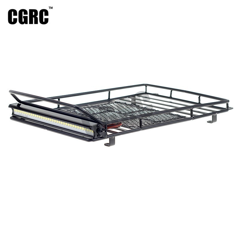 Metal Welding Luggage Rack LED Spotlight For 1/10 RC Crawler Traxxas Trx4 Bronco Cherokee Wrangler Axial Scx10 RC4WD CC01 TF2