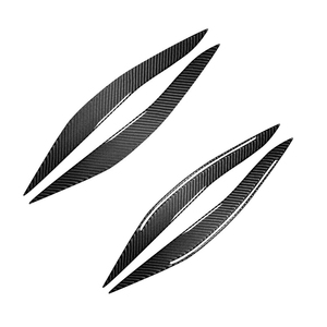 Image 3 - For BMW 5 Series F10 2010 2011 2012 2013 2014 2015 2016 Carbon Fiber Car Front Headlights Eyebrows Eyelids Headlamp Cover