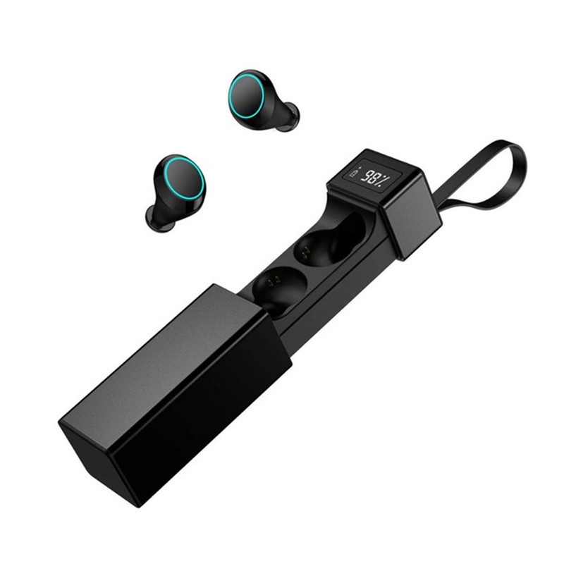 LEORY V5.0 TWS Dual Wireless HiFi bluetooth Earphone Noise Cancelling IPX7 Waterproof Sports Earphone with Mic for HuaweiLEORY V5.0 TWS Dual Wireless HiFi bluetooth Earphone Noise Cancelling IPX7 Waterproof Sports Earphone with Mic for Huawei