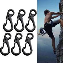10 Pcs/lot Outdoor Mini Aluminium Alloy Hang Gesper Survival EDC Gear Carabiner Gantungan Kunci Klip QuickDraw Gantungan Kunci Alat Perjalanan(China)