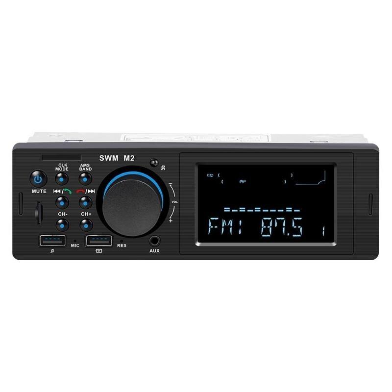 SWM M2 Car Stereo MP3 Music Player FM Music Radio Bluetooth 4.0 TF AUX Dual USB Charging for iOS/ Android Head Unit