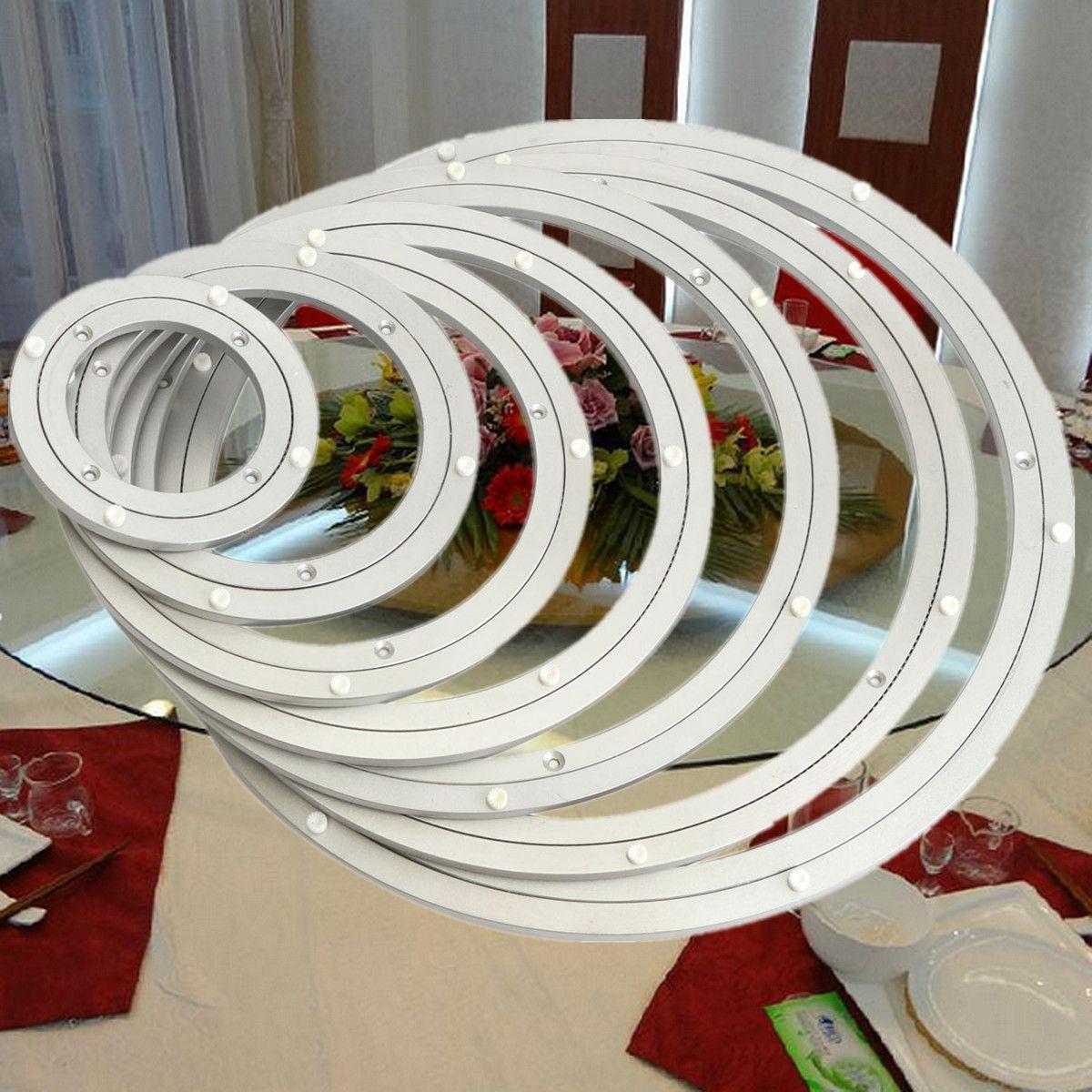 Swivel Platten Hardware 2019 Mode Schwere Aluminium Rotierenden Lager Plattenspieler Oberfläche Glatte Einfach Setup Turn Table Runde Schwenker-platte Geschraubt Oder Feste