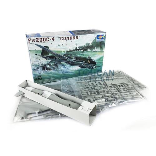 Oyuncaklar ve Hobi Ürünleri'ten Modeli Yapı Setleri'de Trompetçi 02814 1/48 Focke Wulf FW 200C 4 Condor Uçak Kiti Statik Modeli'da  Grup 1