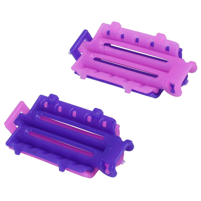 Купить с кэшбэком 45pcs/bag Hair Clip Wave Perm Rod Bars Corn Curler DIY Curler Fluffy Clamps Rollers Fluffy Hair Roots Perm Hair Styling Tool