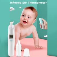 Portable Baby Thermometer Digital Infrared Ear Thermometer Baby Ear Non Contact Adult Body Fever Measurement Termometro