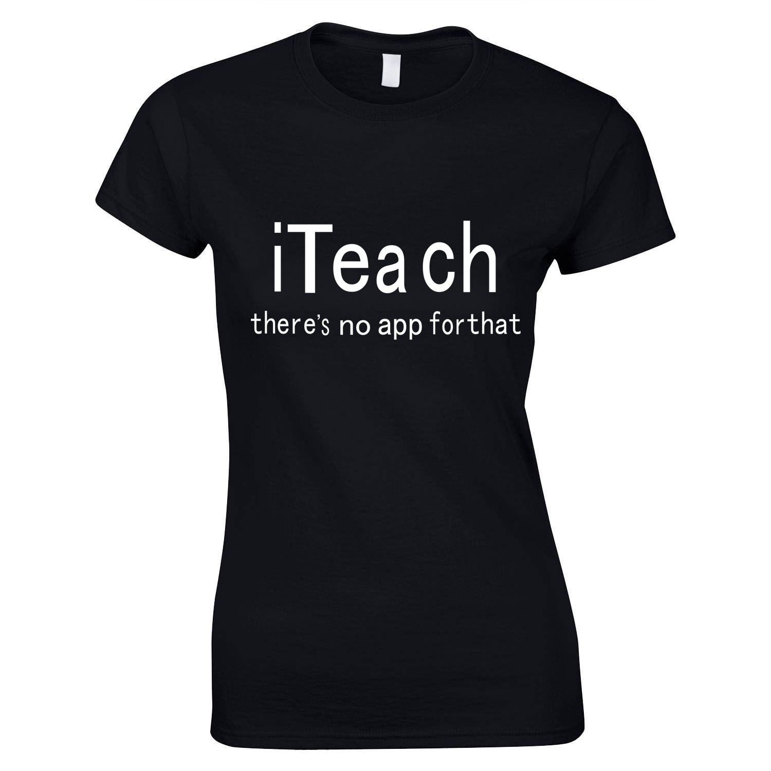 Men Teacher T-Shirt There's No App for That Text Printed UNISEX Tee Shirt Femme Back To School T Shirt image
