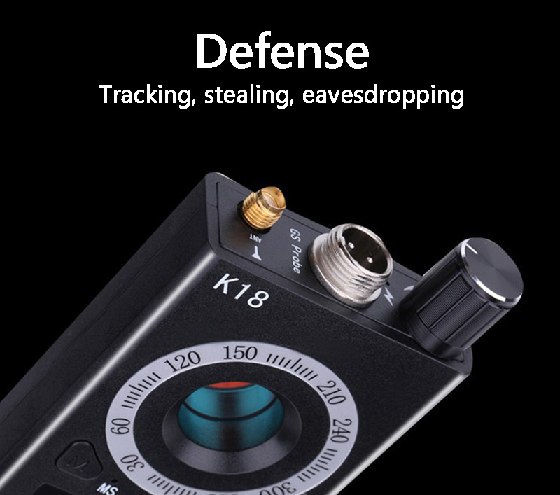 1MHz 6 5GHz K18 Multi function Anti spy Detector Camera GSM Audio Bug Finder GPS Signal