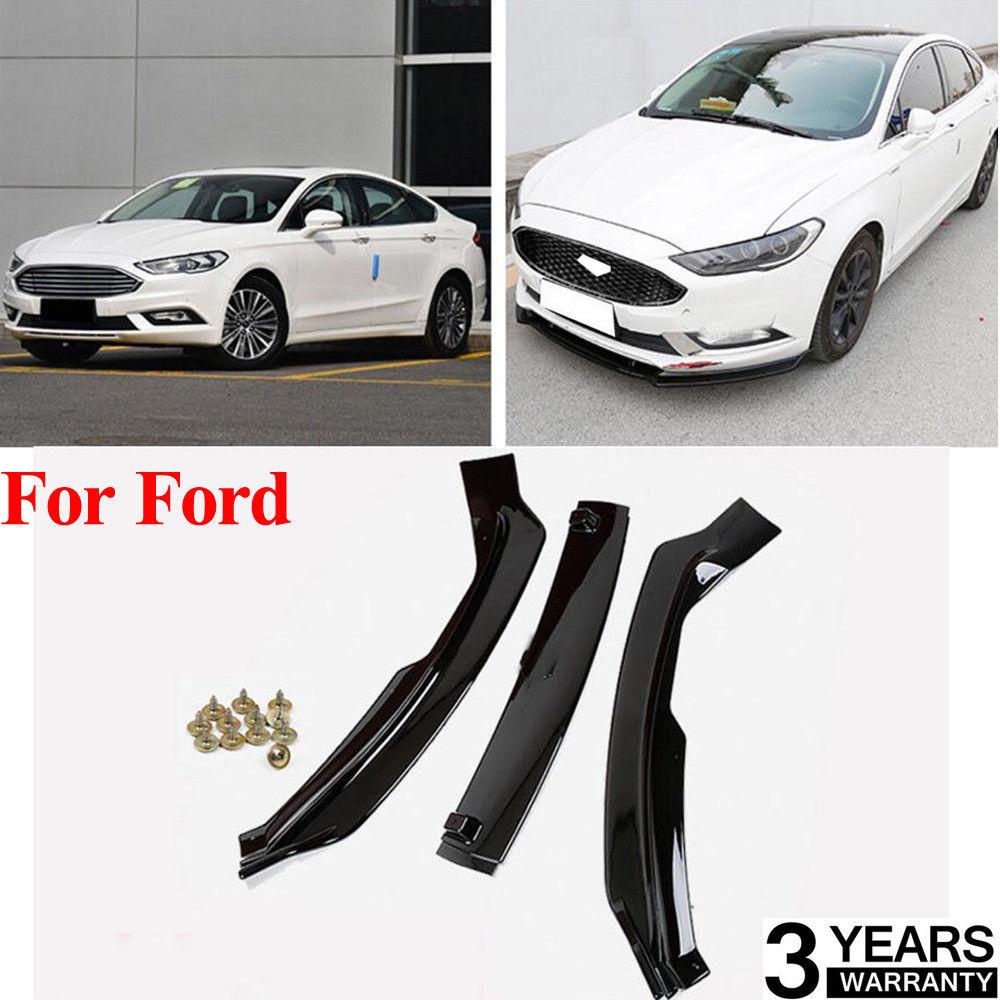 3 Pcs Defletor Dianteiro Spoiler Splitter Difusor Do Carro Bumper Corpo Pás De Fibra De Carbono Para Ford 2017-2018 para a Fusão para Mondeo