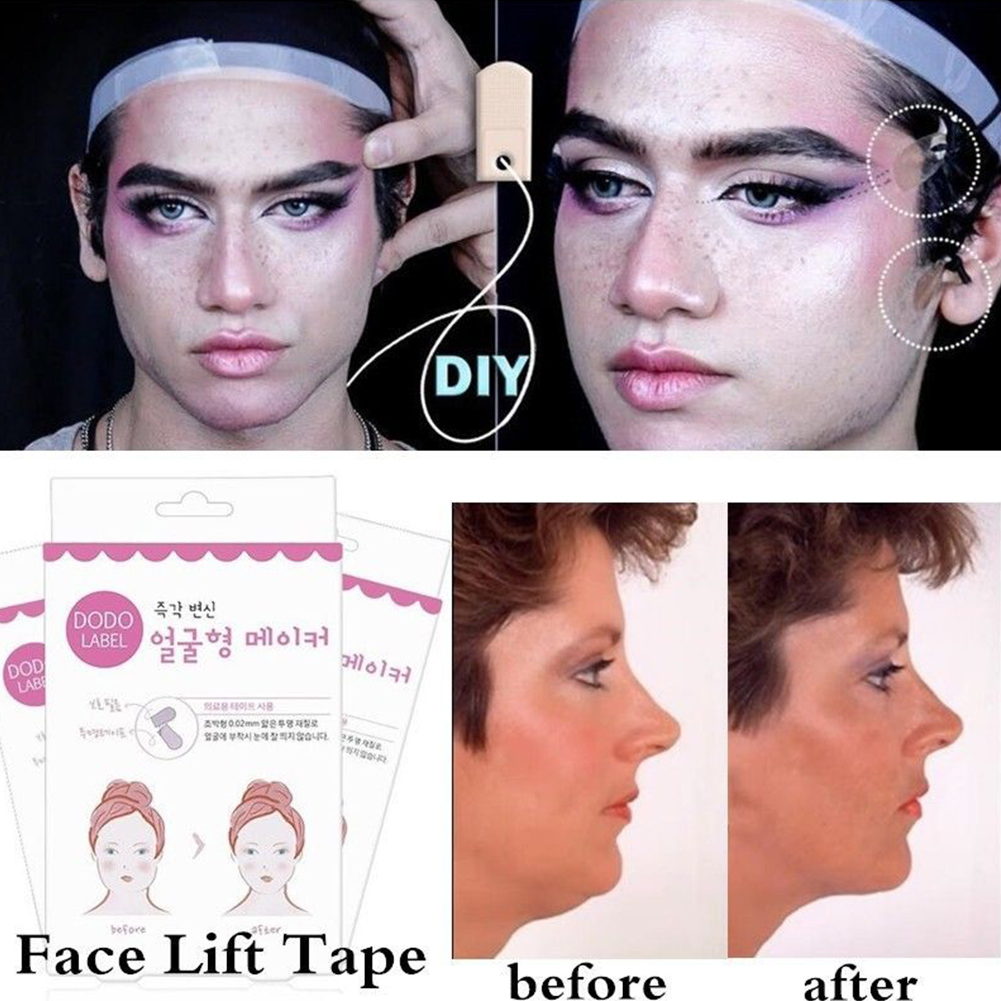 40pcs Lift Face Sticker Instant Waterproof V Shape Breathable Makeup Adhesive Tape Invisible Lifting Tighten Chin