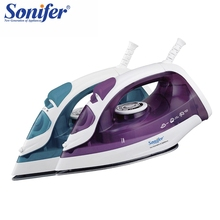 1600W Mini Portable Electric Steam Iron For Clothes Multifunction Adjustable Ceramic soleplate  iron for ironing Sonifer цена и фото