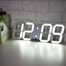 Electronic Alarm Clock LED Wall Desk Clock Countdown Timer with Temperature Date (US Plug)