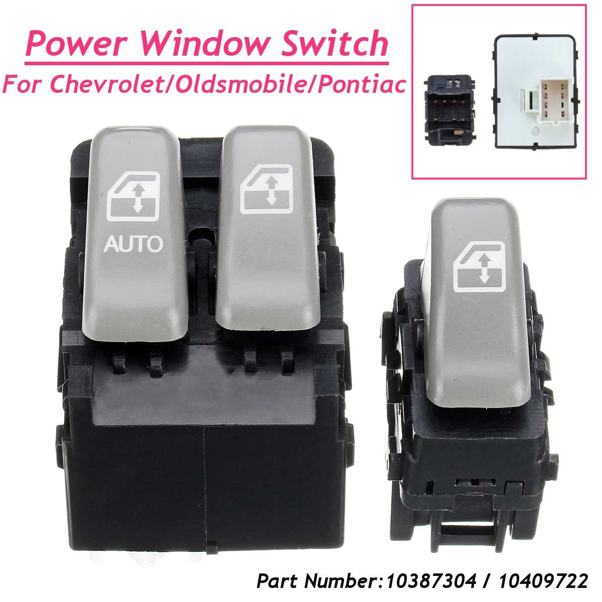 Intellective For Chevrolet Venture For Oldsmobile For Pontiac Montana 02-04 10387304 Power Master Window Switch Front Left Right 2pcs Set