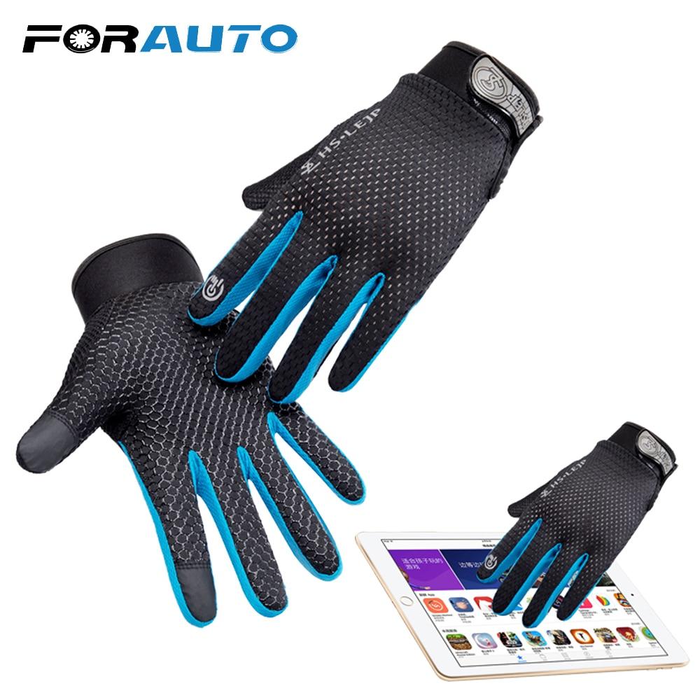 Outdoor Cycling Full Finger Glove Sports Anti Slip Breathable Motor Bike Gloves