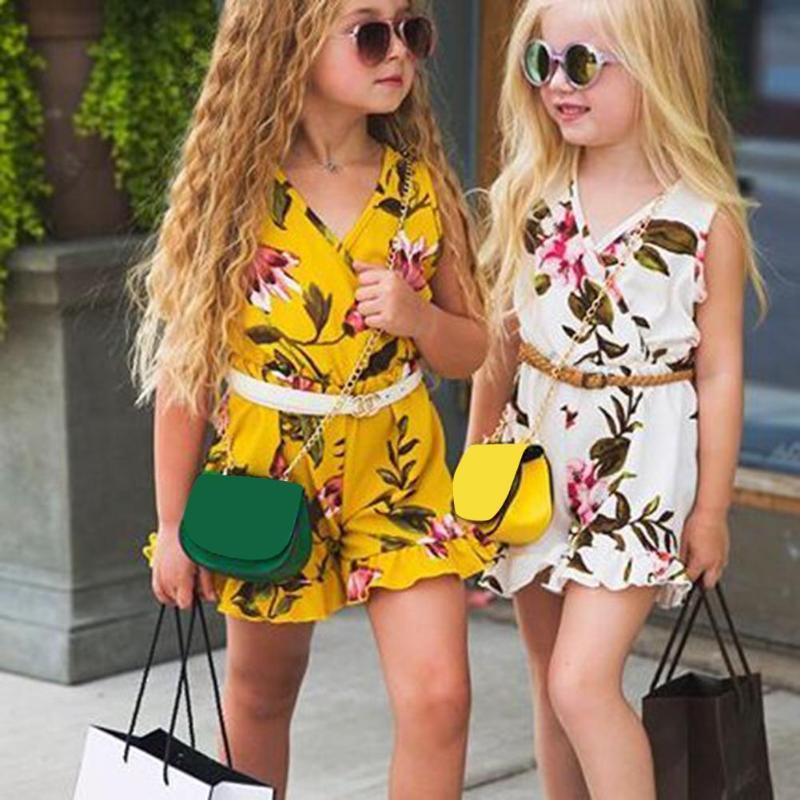 1-6y Zomer Peuter Kids Baby Meisje Mouwloze Bloemen Romper Jumpsuit Outfits Een Stukken Sunsuit Kleding Verlichten Van Reuma En Verkoudheid