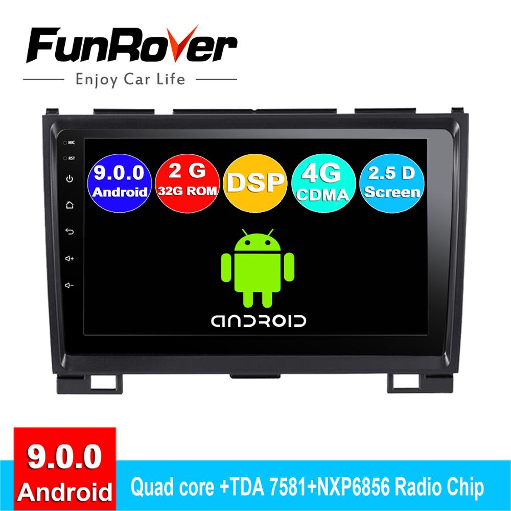 FUNROVER Android 9.0 IPS+2.5D 2 Din Car Dvd Radio For Haval Hover Greatwall Great Wall H5 H3 2010-2013 Gps Navigation Navi Audio