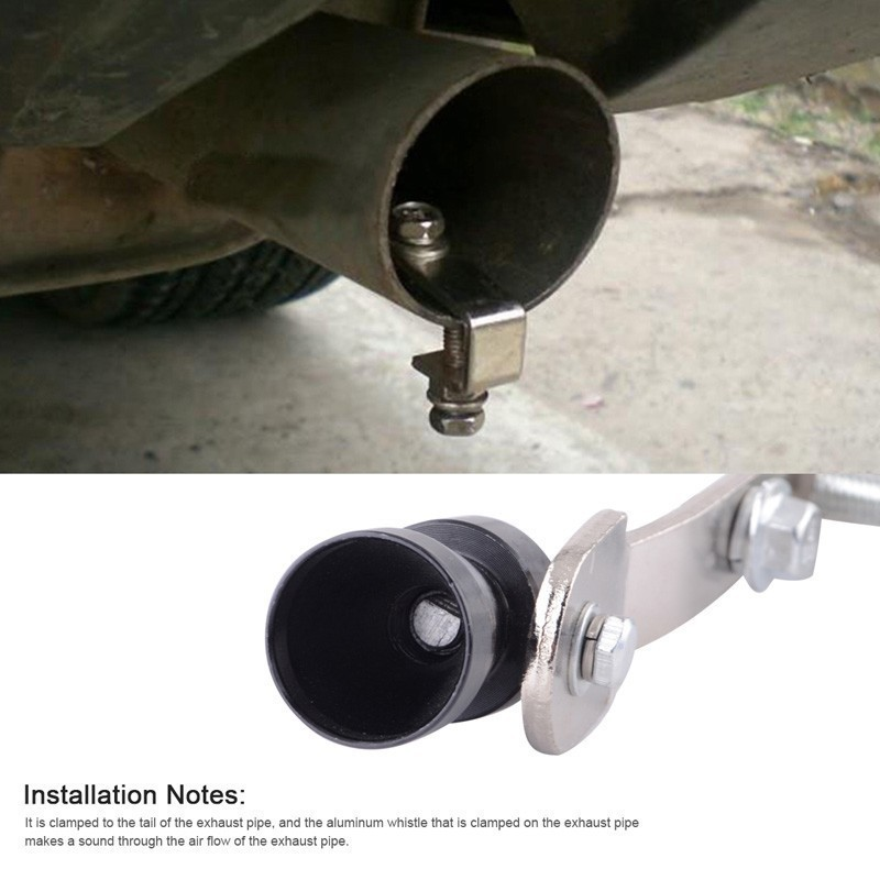 Universal Car Turbo Whistle Turbo Whistle Sound Muffler Blow Off Exhaust Tip Pipe Simulator Sound Pipe Size S M LXL in Mufflers from Automobiles Motorcycles