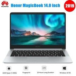2019 Huawei Honor MagicBook portátil de 14 pulgadas sistema operativo Linux AMD Ryzen 5 3500U 8GB 256GB/512GB SSD Radeon Vega 8 huella digital portátil
