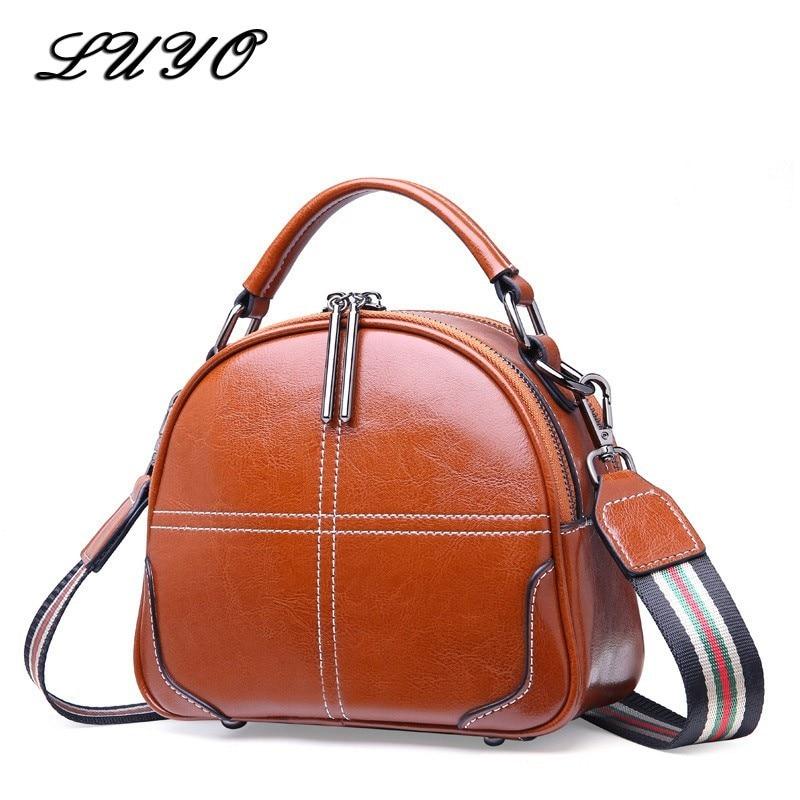 2019 Fashion Genuine Leather Small Luxury Handbags Women Crossbody Bags For Designer Brown Shoulder Bag Female
