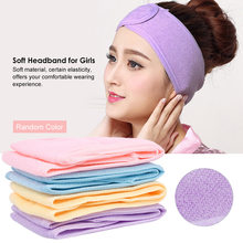 1 Pc Soft Headband for Girls Makeup Face Washing Shower Turban Head Wrap Headwear Towel Fabric for Salon Home Use Random Color(China)