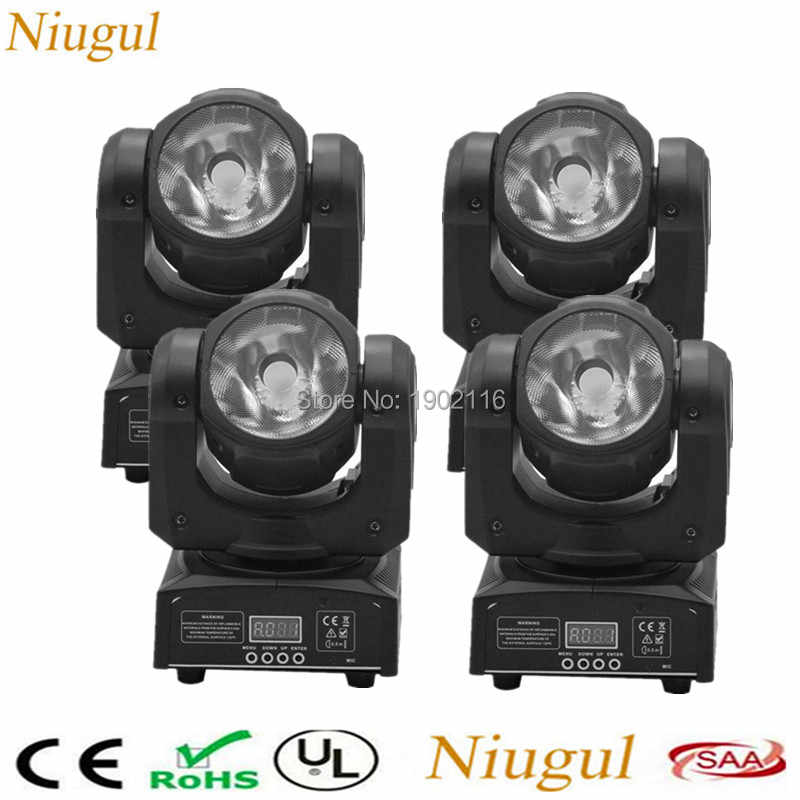 4 Buah/60 W RGBW 4IN1 LED Beam Moving Head Light/Super Terang Bar Dj LED Spot Lampu/ DMX512 Linear Beam Tahap Efek Lampu