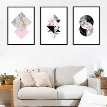 Modern Canvas Painting Art Wall Abstract Geometry Nordic Style Pictures for Living Room Home Decor