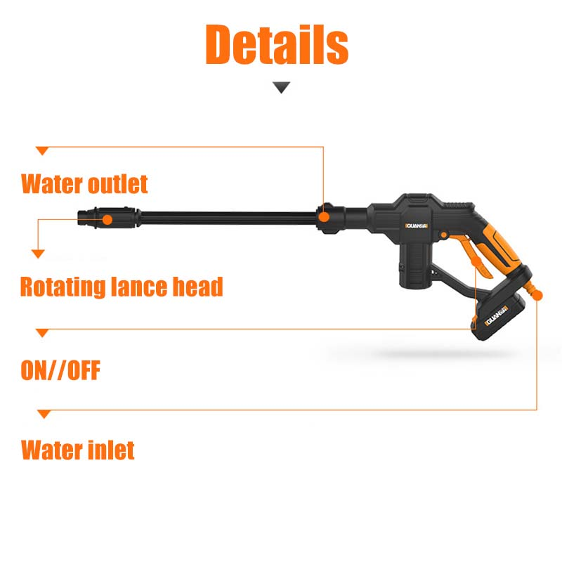 Image 4 - Portable 12V Car Washer Guns Cordless Pressure Cleaner Rechargable Car Care Washing Machine Electric Cleaning Device Home Garden-in Car Washer from Automobiles & Motorcycles
