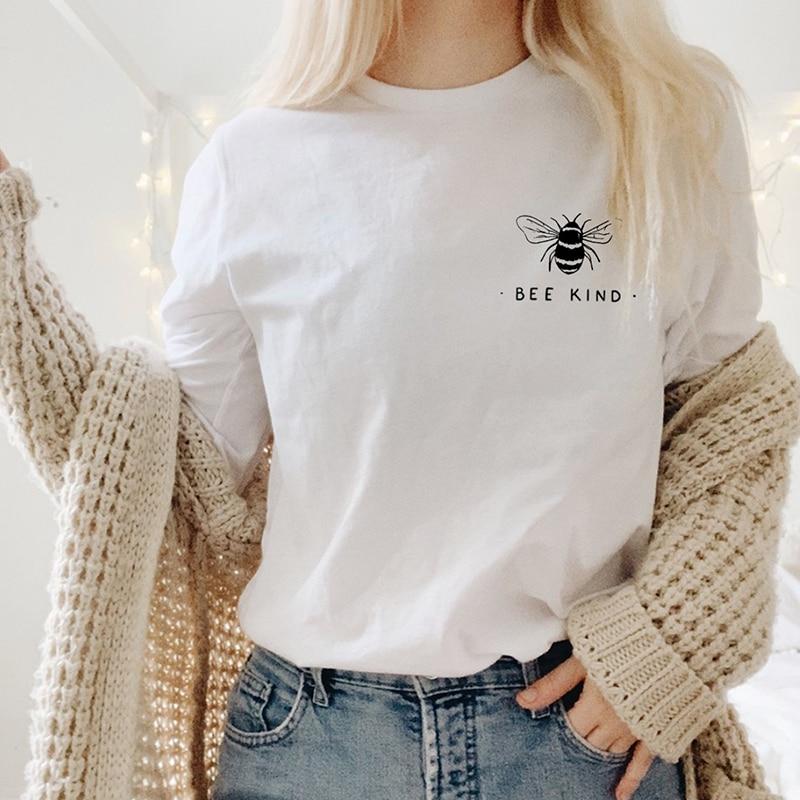 Bee Art T Hemd Frauen Sparen Sie Bienen Sommer T-shirts Lustige Hemd Kurzarm Graphic Tee Grunge Tumblr Femme Tops Drop verschiffen