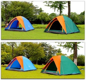 Image 5 - Top Quality Double Layer Camping Tent 3 4 Person with Double Door All Weather Rainproof Seam Taped Outdoor Tent 200x180x140cm