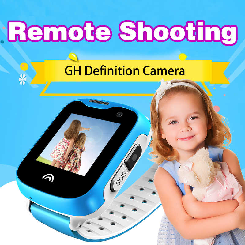 VJOYCAR D7 Kids Watch GPS Tracker Children Remote Camera Mobile Phone Call SOS Waterproof Mini GPS Free Tracking Software APP