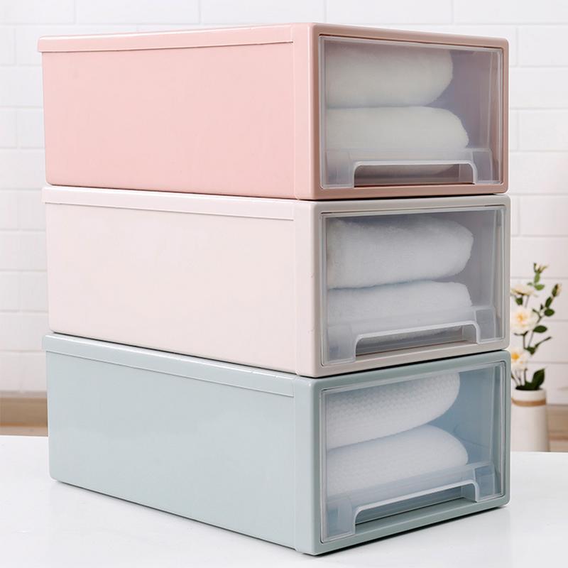 Locker Drawer Plastic Storage Box Quilt Clothes Organizer Dust Cabinet Storage Box Bedroom Cabinet Organizer Home Decoration