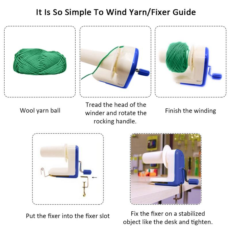 Image 5 - Household Hand Operated Wool Yarn Ball Winder Winding Twining Machine Thread Balls Wool Winding Machine Carton Packaging-in Sewing Tools & Accessory from Home & Garden