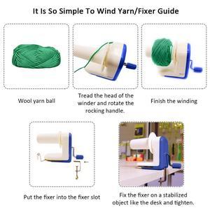 Image 5 - Household Hand Operated Wool Yarn Ball Winder Winding Twining Machine Thread Balls Wool Winding Machine Carton Packaging