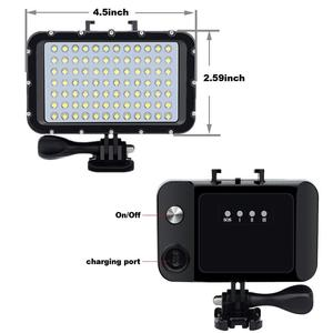 Image 5 - EastVita 84LED عالية الطاقة عكس الضوء إضاءة LED مقاومة للماء الفيديو ل Gopro كانون نيكون سوني SLR 50 mتحت الماء أضواء الغوص ضوء r25