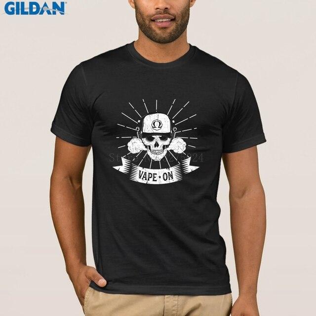78cd57b67 Customized Funny Vape T Shirt For Mens Vape On Skull Tee Shirt For Men  Cotton Standard T-Shirt Man Spring Top Tee