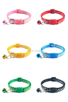 96pcs/lot Adjustable Cat Buckcle Collar Bow Tie Bell Bowknot Sale Collar Necktie Puppy Kitten Dog Cat Pet Collars