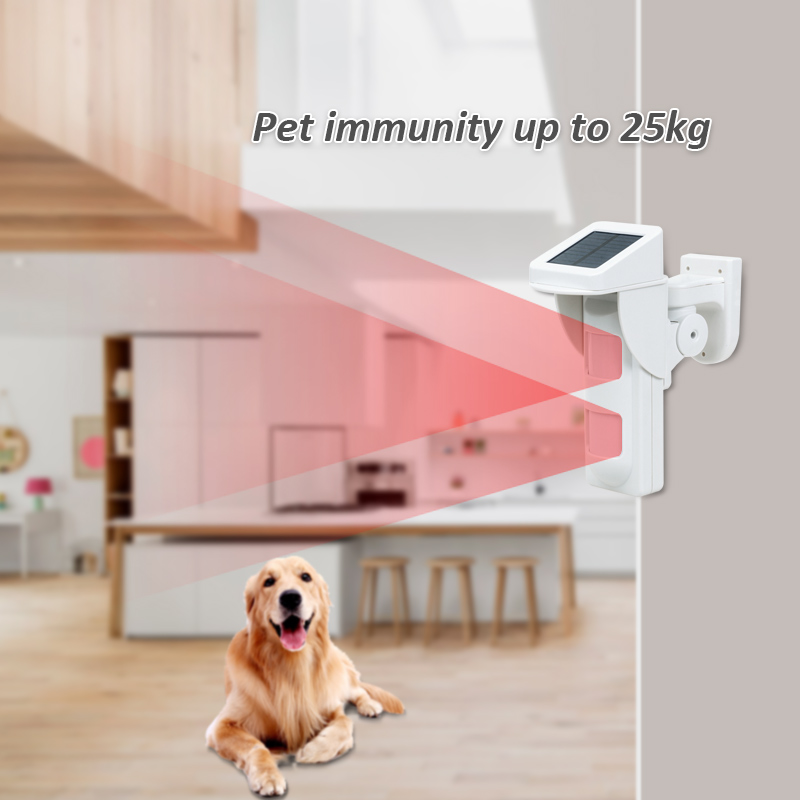 Wireless Solar Powered Outdoor IP65 Motion Sensor Alarm System For Home Smart Secirity 433MHz WIFI Alarm G90B Infrared Detector