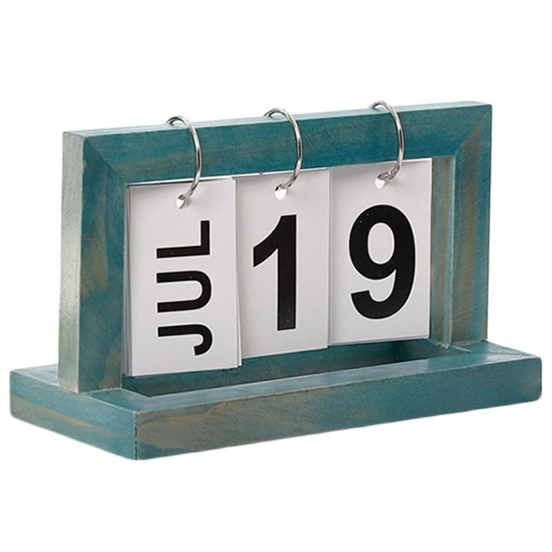 Vintage Style Perpetual Calendar Diy Calendar Crafts Office School Decoration